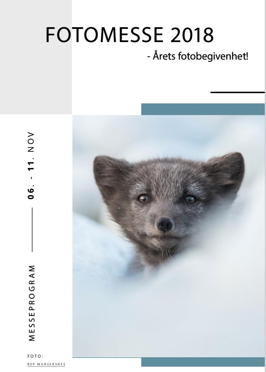 Invitasjon til fotomesse i Stavanger 9-10.11.2018